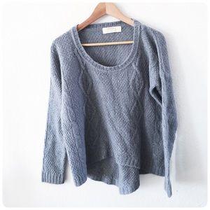Zara knit pray mohair wool sweater medium